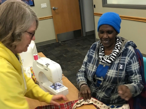 New sewing group helps clients make friends, learn new skill